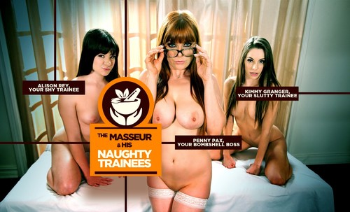 The Masseur & his Naughty Trainees [HD 720p] (lifeselector,SuslikX) [2017]