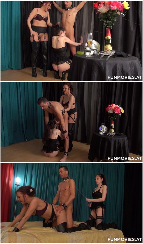A mistress educates her lick slaves 4
