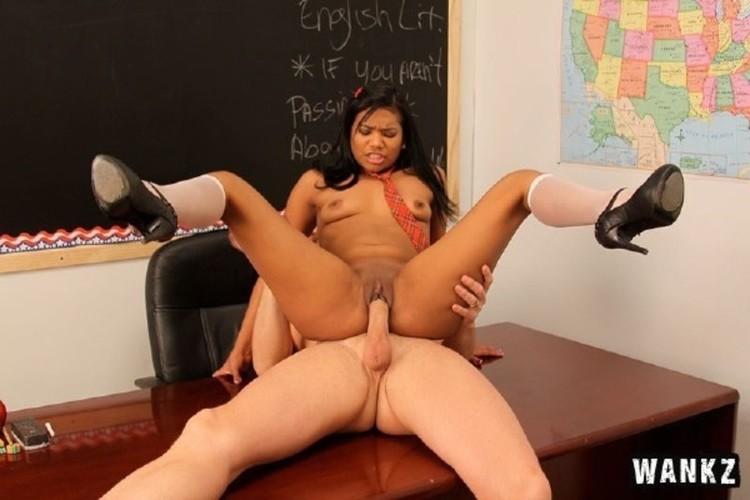 Slutty coed emy reyes gets her latina twat stuffed 10