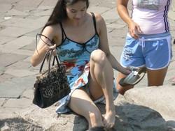 Подглядывание за девочками на пляже фото