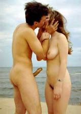 bild-paar, Amateur, Beach, Big Cock, Men, Public, nude, erection, nackt, naked, nackter