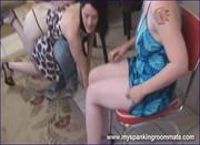 Lebian spanking