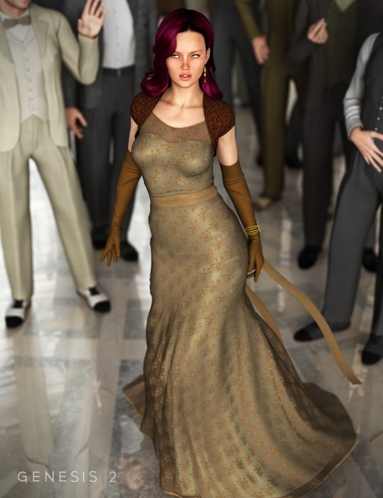 Evening Gown for Genesis 2 Female(s) - Modern Brides - Dreamy Gowns - Tulle Treasures - Evening Glam - Prom Night for Evening Gown