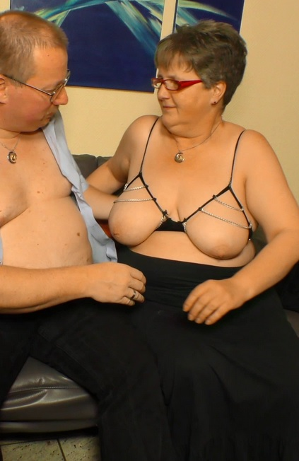 Mature German BBW Birgit W. gets cum on tits after a hot amateur fuck