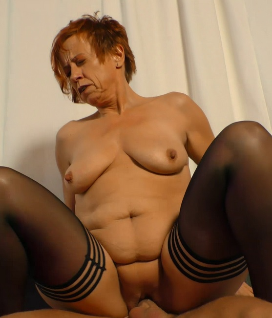 Mature redhead Cosette and Juergen G. in German porn