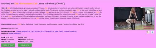 Brat Princess 2: Amadahy and Cali – Enthusiastic Cali Learns how to Ballbust (1080 HD)