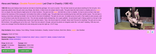 Brat Princess 2: Alexa and Natalia – Double Facesit Leash Led Chair in Chastity (1080 HD) (NEW)