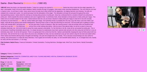 Brat Princess 2: Sasha – Brain Rewired to Eroticize Debt (1080 HD)