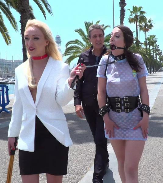 Steve Holmes , Liz Rainbow , Max Cortes , Amber Deen - The Public Fuck Toy of Barcelona 720p Cover