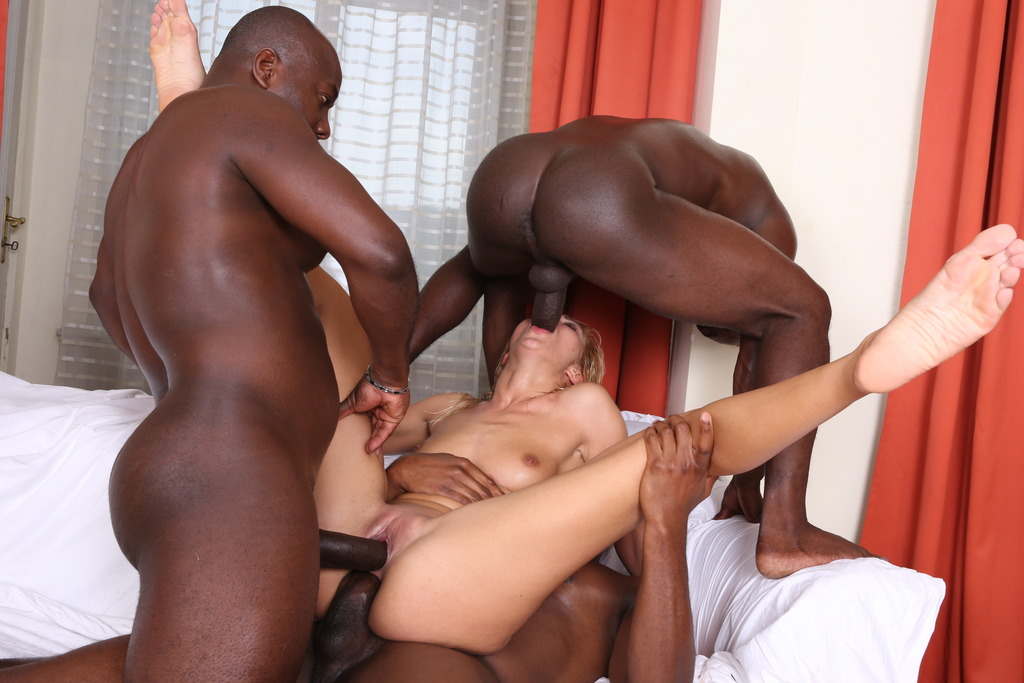 LegalPorno - Interracial Vision - Cherry Kiss is back to face three black dudes IV091