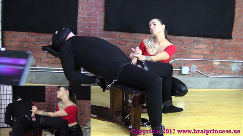 Helpless man is stroked and tease 4