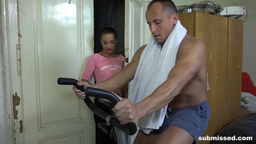 Submissed: Bound and wank exercise with Eveline