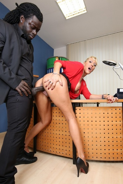 German Milf Boss Office