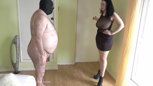 Ballbustingchicks: Anastasia: Finished off by shaking boobs!