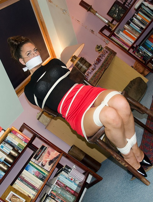 Captive of Hell Hall: Busty Secret Agent Bound, Gagged & Squirming!