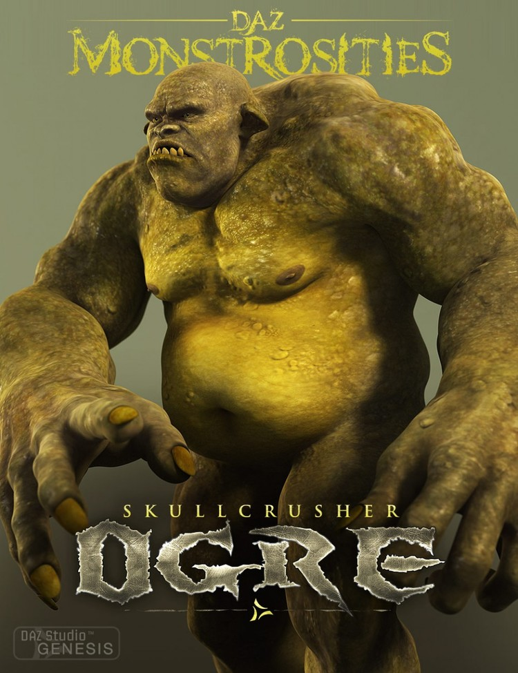 DAZ Monstrosities: Skullcrusher Ogre