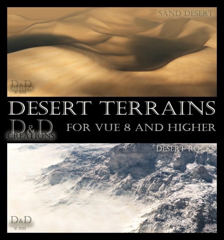 Desert terrains for Vue 8 or higher