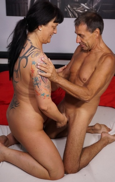 Tattooed German black-haired newbie is fucked h