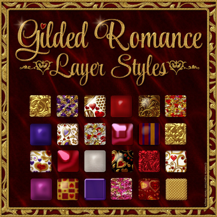 Gilded Romance Layer Styles