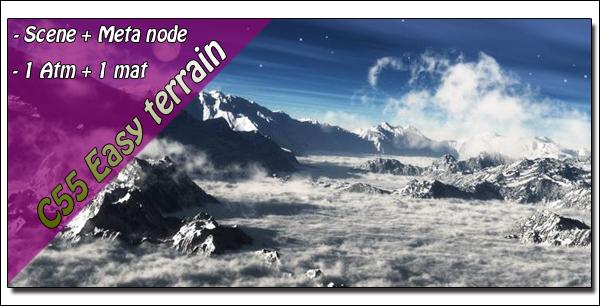 Cesium55 Easy Terrain MetaNode for Vue !