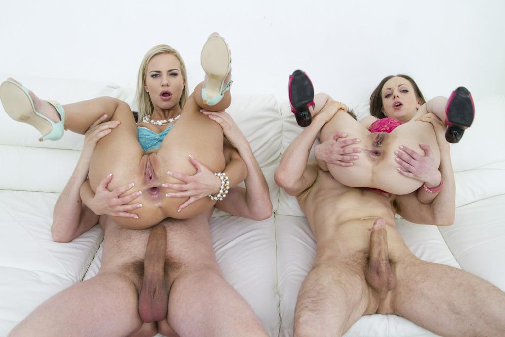 LegalPorno - Gonzo_com - Teen sluts Natalia Pearl & Natalie Cherry anal & DP 4some for Legal Porn SZ1281