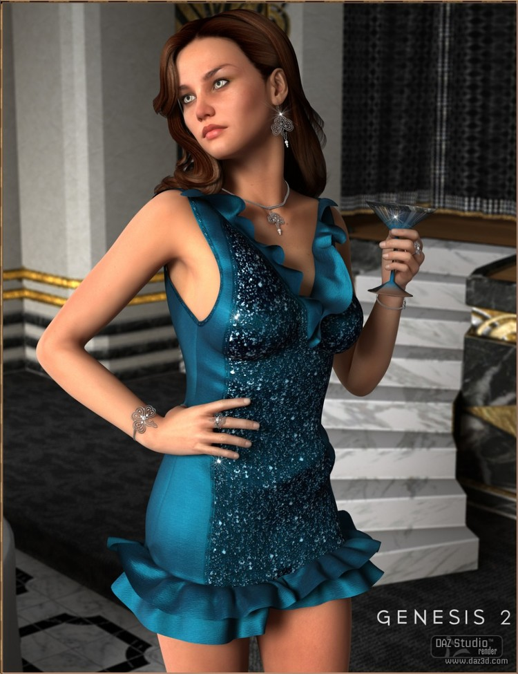 Cocktail Hour Dress for Genesis 2 Female(s)