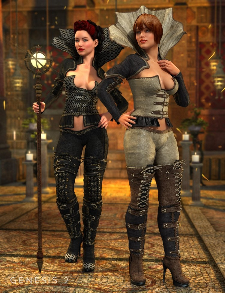 Dark Princess for Genesis 2 Female(s) - Dark Princess Outfit Textures