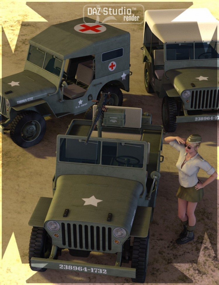 WWII Jeep - WWII Jeep Plus - Grungy Jeeps - Extreme mod for WWII Jeep