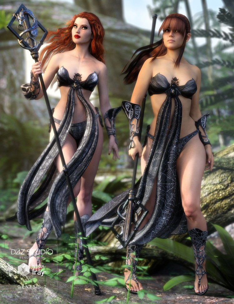 Fantasia For Genesis 2 Female(s) - Dragon Shaman - Darkside of Fantasia - Chimera for Fantasia
