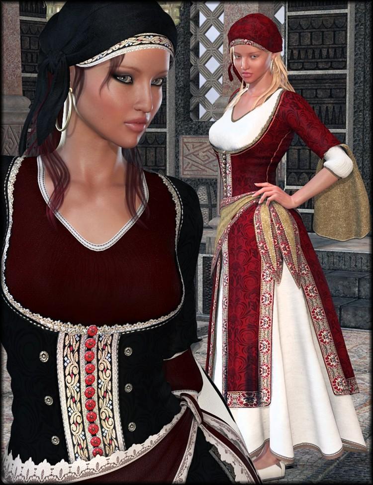 Ghawazee Textures - Ghawazee Coat for Genesis 2 Female(s)