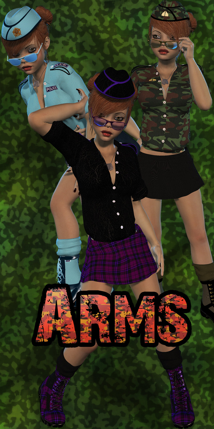 Arms for Girl 4 Army Pinup