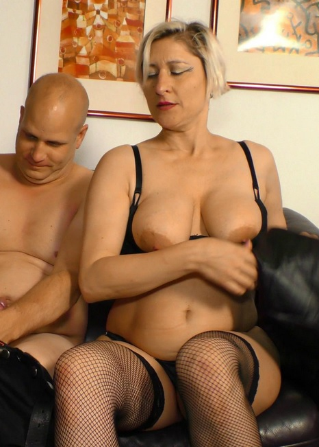 Busty German newbie Teresa R. gets her mature