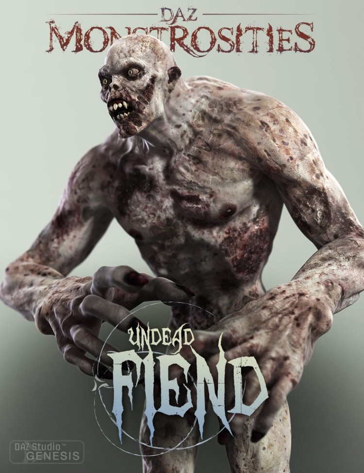 DAZ Monstrosities: Undead Fiend - Wicked Undead Fiend Morphs