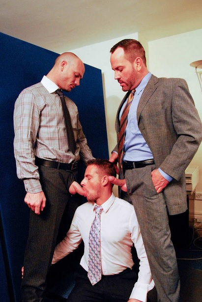 Suited Threesome!