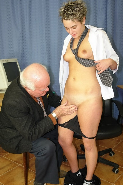 Pervert grandpa come to see his lawyer