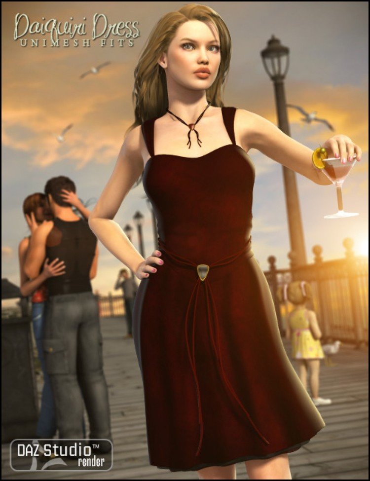 Daiquiri Dress for V4 - Daiquiri Dress V4 Unimesh Fits - Blair - Chickadee