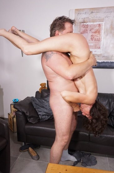 A brunette cheating wife is pounded hard during German
