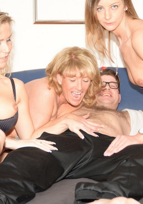 Mature German foursome with three slutty blonde swingers
