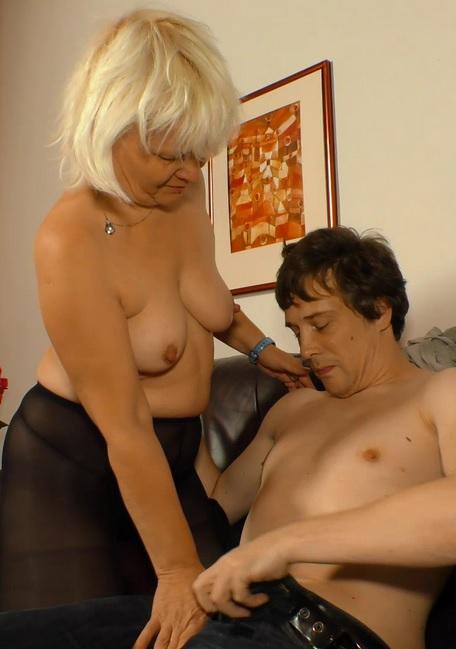 German blonde granny Gabriele H. sucks and fucks like a pro
