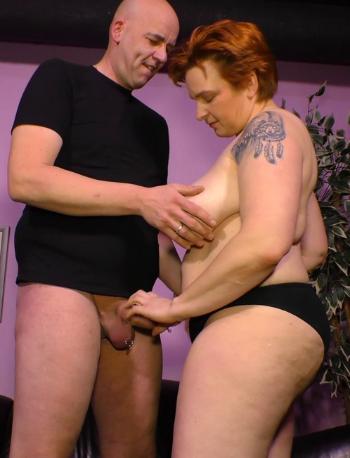 German BBW mature lady enjoys hardcore drilling and cum in mouth