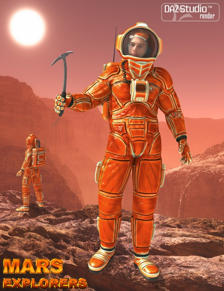 Mars Explorers for Genesis 2 Male(s)