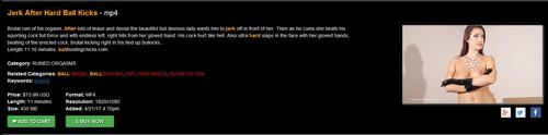 Ball Busting Chicks: Angela: Jerk After Hard Ball Kicks – MP4 version added