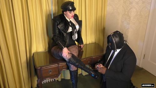 Juliesimone: Femdom Leather Boot Shine