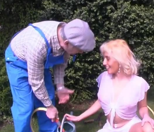 Grandpa in outdoor sex