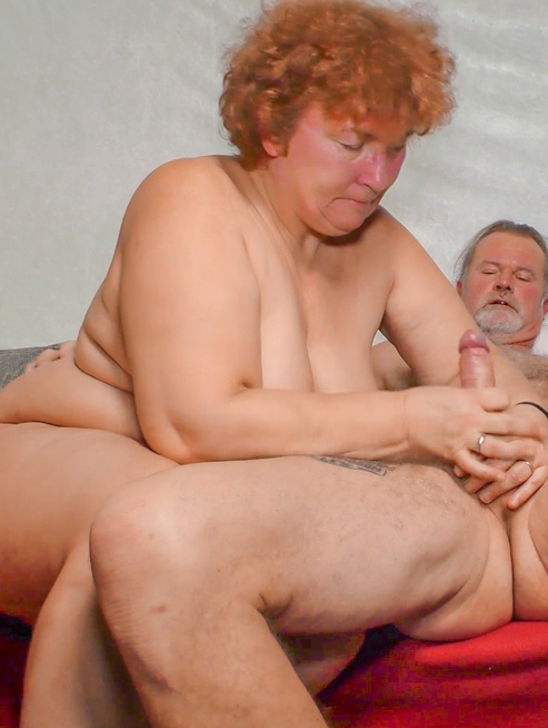 Daring German granny Heike R. loves playing with a hard cock