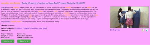 Brat Princess 2: Jennifer and Sasha – Brutal Whipping of Janitor by Mean Brat Princess Students (1080 HD)