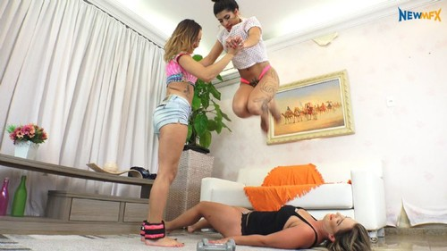 Trampleinbrazil: SEXY TRAMPLE GAME (Larissa Gomes, Lilith, Mary Luthay)