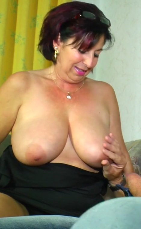 Horny amateur German granny gets cum on tits in raunchy hard fuck
