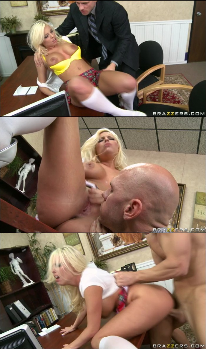 Blonde school girl britney amber and big cock