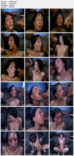 Re: Cumshot at the faces of beautiful girls (Bukkake)